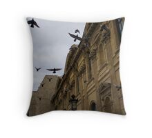 Commotion in the Sky of Paris Throw Pillow