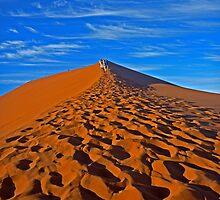 Sand Dune Hiking by Karl Kruger
