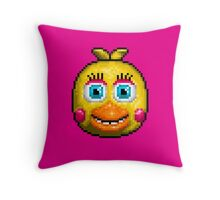 Adventure Toy Chica - FNAF World - Pixel Art Throw Pillow