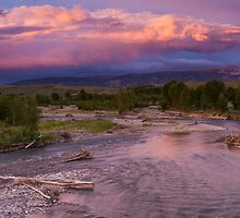 Gros Ventre River Sunset by cavaroc