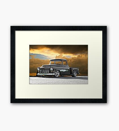 1956 Chevrolet Stepside Pick-Up Truck III Framed Print