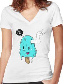 I-scream Women's Fitted V-Neck T-Shirt