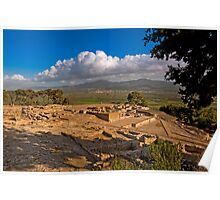 Phaistos archaeological site in Crete Poster