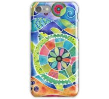Sea Turtle Abstract iPhone Case/Skin