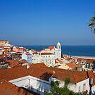 Lisbon Alfama Panoramic View Toward the River by kirilart