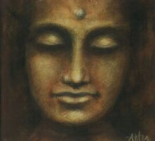 """Buddha I"" as high resolution BIG print:) by Antea"