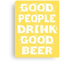 Good Beer Poster Canvas Print