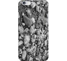 Black and White Pebbles on a Beach iPhone Case/Skin
