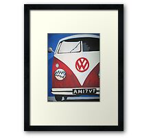 Red VW camper van Framed Print