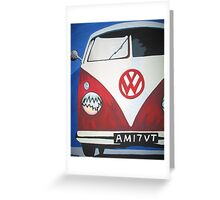 Red VW camper van Greeting Card