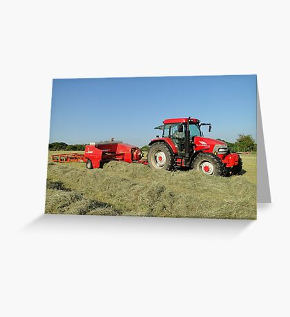 A Time To Make Hay Greeting Card