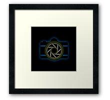 Glowing camera  Framed Print