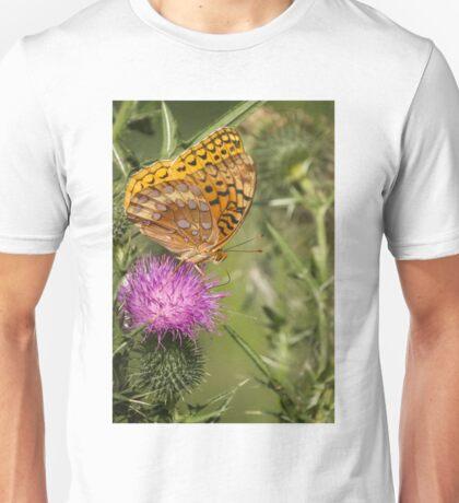 Fritillary On Thistle 2013-3 Unisex T-Shirt