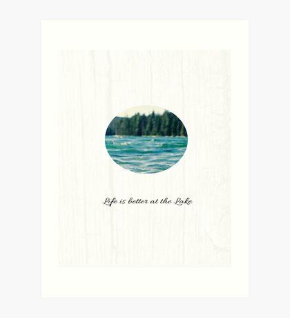 Life on the Lake  Art Print
