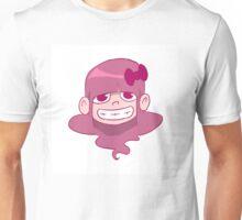 Crazy Girl in Pink Punk  Unisex T-Shirt