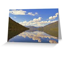 Lake Slocan, British Columbia Greeting Card