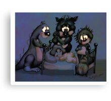 Monsters In My room Canvas Print