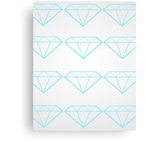 Diamonds are a Girl's Bestfriend Canvas Print