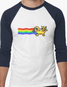 Nyan CatDog Men's Baseball ¾ T-Shirt