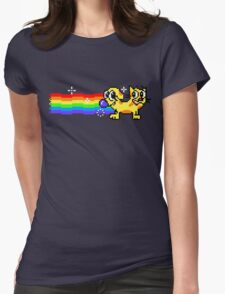 Nyan CatDog Womens Fitted T-Shirt