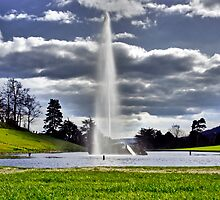 Large Emperor Fountain Through Clouds by Sam Goodman