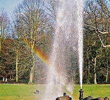 Rainbow through Fountain by Sam Goodman