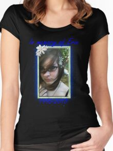 Erin Shirt 7 (Blue) Women's Fitted Scoop T-Shirt