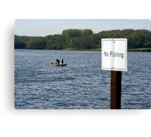 Renegade Anglers, Unlawful Fishing! Canvas Print