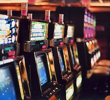 Row of Slot Machines, Stratosphere, Las Vegas by Sam Goodman