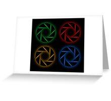 Glowing aperture Greeting Card