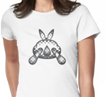 Bunny Tail - Halftone Womens Fitted T-Shirt