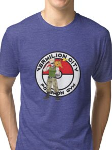 Vermilion City Pokemon Gym Tri-blend T-Shirt
