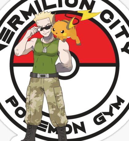 Vermilion City Pokemon Gym Sticker