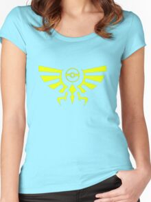 Legend of Pokemon- Crest Women's Fitted Scoop T-Shirt