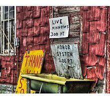 Minnows $3/pt, Honor System Photographic Print
