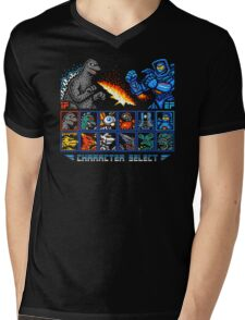 KAIJU FIGHTER Mens V-Neck T-Shirt