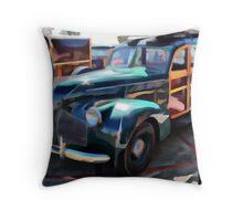 Woody Classic Car Art Throw Pillow