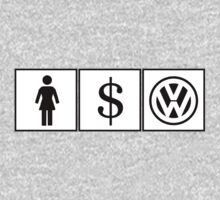 Girl Money Volkswagen - Like Eat Sleep Volkswagen (Sticker / T-Shirt) by vincepro76