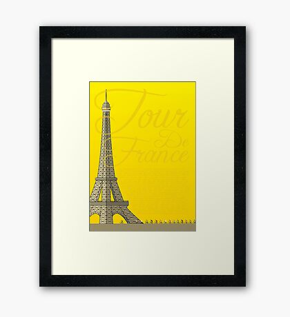 Tour De France Eiffel Tower Framed Print