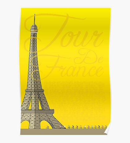 Tour De France Eiffel Tower Poster