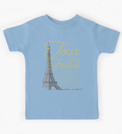 Tour De France Eiffel Tower Kids Tee