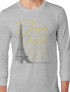 Tour De France Eiffel Tower Long Sleeve T-Shirt