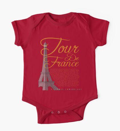 Tour De France Eiffel Tower One Piece - Short Sleeve