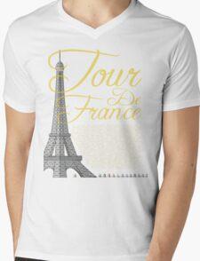 Tour De France Eiffel Tower Mens V-Neck T-Shirt