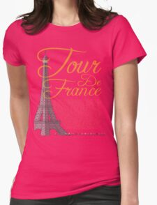 Tour De France Eiffel Tower Womens Fitted T-Shirt