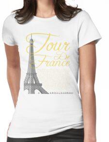 Tour De France Eiffel Tower Womens Fitted T-Shirt