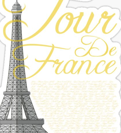 Tour De France Eiffel Tower Sticker