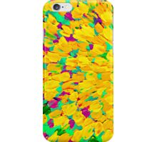 SPRING SPLASH Abstract Acrylic Painting Bright Cheerful Lime Sunshine Yellow Lavender Lilac Purple Ocean Beach Waves iPhone Case/Skin