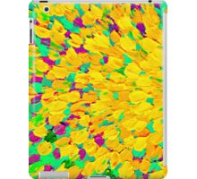 SPRING SPLASH Abstract Acrylic Painting Bright Cheerful Lime Sunshine Yellow Lavender Lilac Purple Ocean Beach Waves iPad Case/Skin