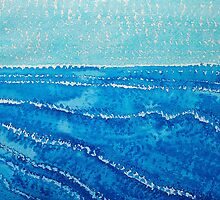 Japanese Waves original painting by CrowRisingMedia